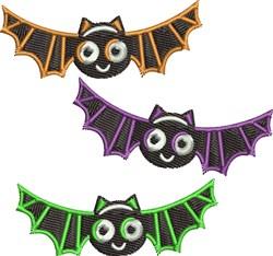 Halloween Bats embroidery design