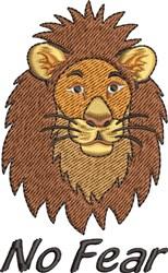 No Fear Lion embroidery design