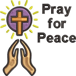 Prayer For Peace embroidery design