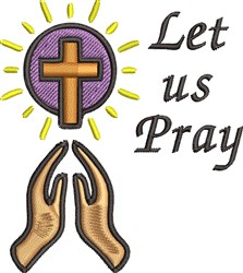 Let Us Pray embroidery design