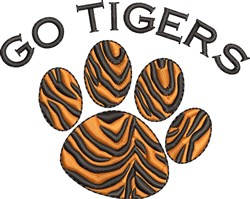 Tiger Paw embroidery design
