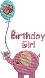 Baby Girl Elephant embroidery design