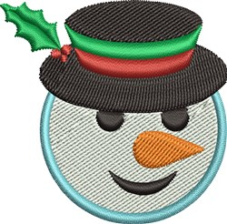 Christmas Snowman embroidery design