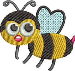 Cute Honey Bee embroidery design