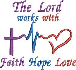 Faith Sayings embroidery design