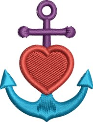 Faith Hope Love Anchor embroidery design
