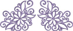 Floral Scrollwork embroidery design