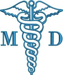 Caduceus MD embroidery design