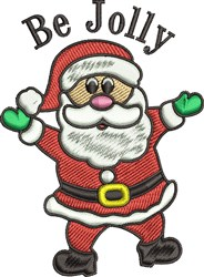Jolly Santa Claus embroidery design