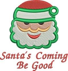 Santa Face FSL embroidery design
