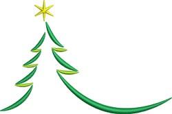 Stylish Holiday Tree embroidery design