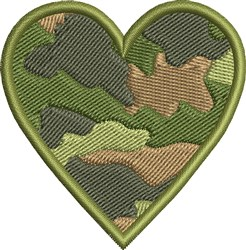 Army Camo Heart embroidery design