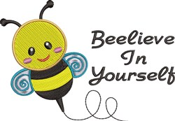 Beelieve In Yourself embroidery design