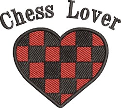 Chess Lover embroidery design