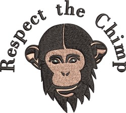 Respect The Chimp embroidery design