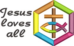 Jesus Loves All embroidery design