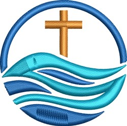 Christian Globe embroidery design