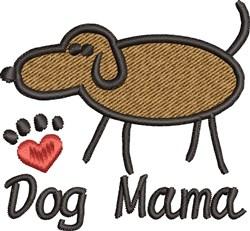 Dog Mama embroidery design
