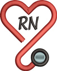 RN Heart embroidery design