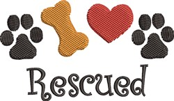 Rescued Pet embroidery design