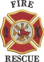 Fire Rescue embroidery design
