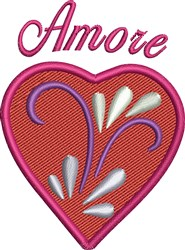 Amore Heart embroidery design