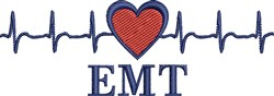 EMT Heartbeat embroidery design