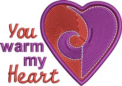Warm My Heart embroidery design