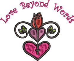 Love Beyond Words embroidery design