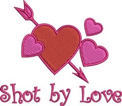 Shot By Love embroidery design