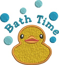 Bath Time embroidery design