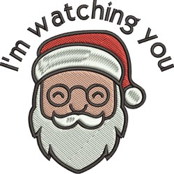 Im Watching You embroidery design