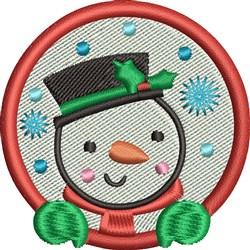 Snowman Globe embroidery design