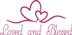 Loved And Blessed embroidery design