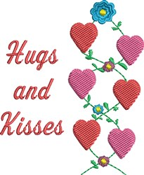 Hugs And Kissess embroidery design