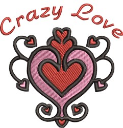 Crazy Love embroidery design