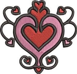 Valentines Day embroidery design