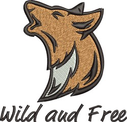 Wild And Free embroidery design