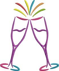 Celebration Glasses embroidery design