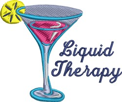Liquid Therapy Cocktail embroidery design