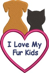 Fur Kids embroidery design
