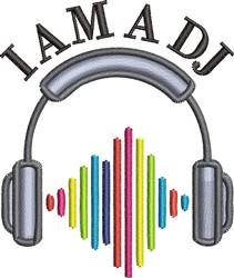 I Am A DJ embroidery design