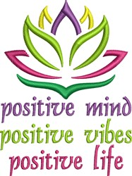 Positive Lotus embroidery design