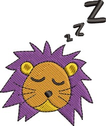 Sleeping Lion embroidery design