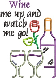 Wine Me Up embroidery design