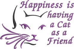 Cat As A Friend embroidery design