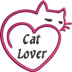 Cat Lover embroidery design