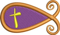Christian Fish embroidery design