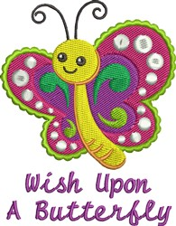 A Butterfly embroidery design