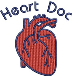 Heart Doc embroidery design